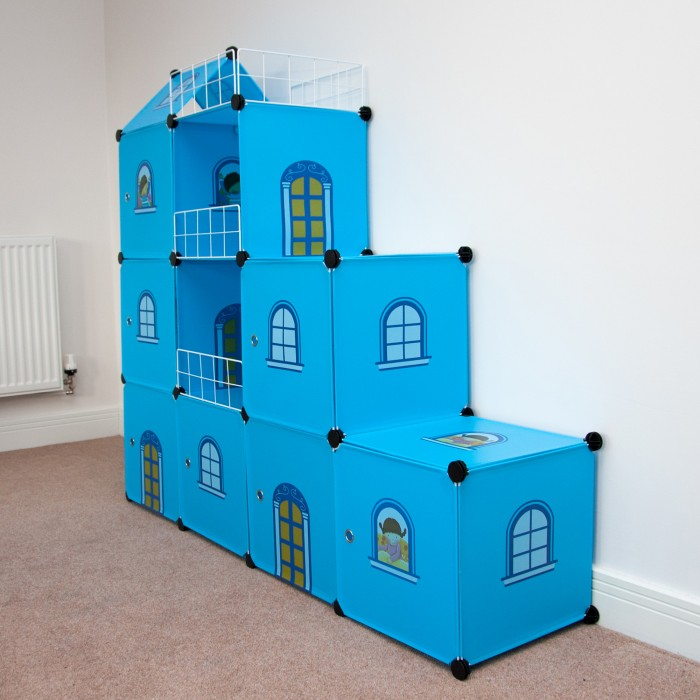 Castle Cubes - 9 Blue Castle for Both Boys and Girls