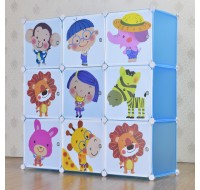 Safari Animals - Kids Toy Boxes and Wardrobe 9 Cubes