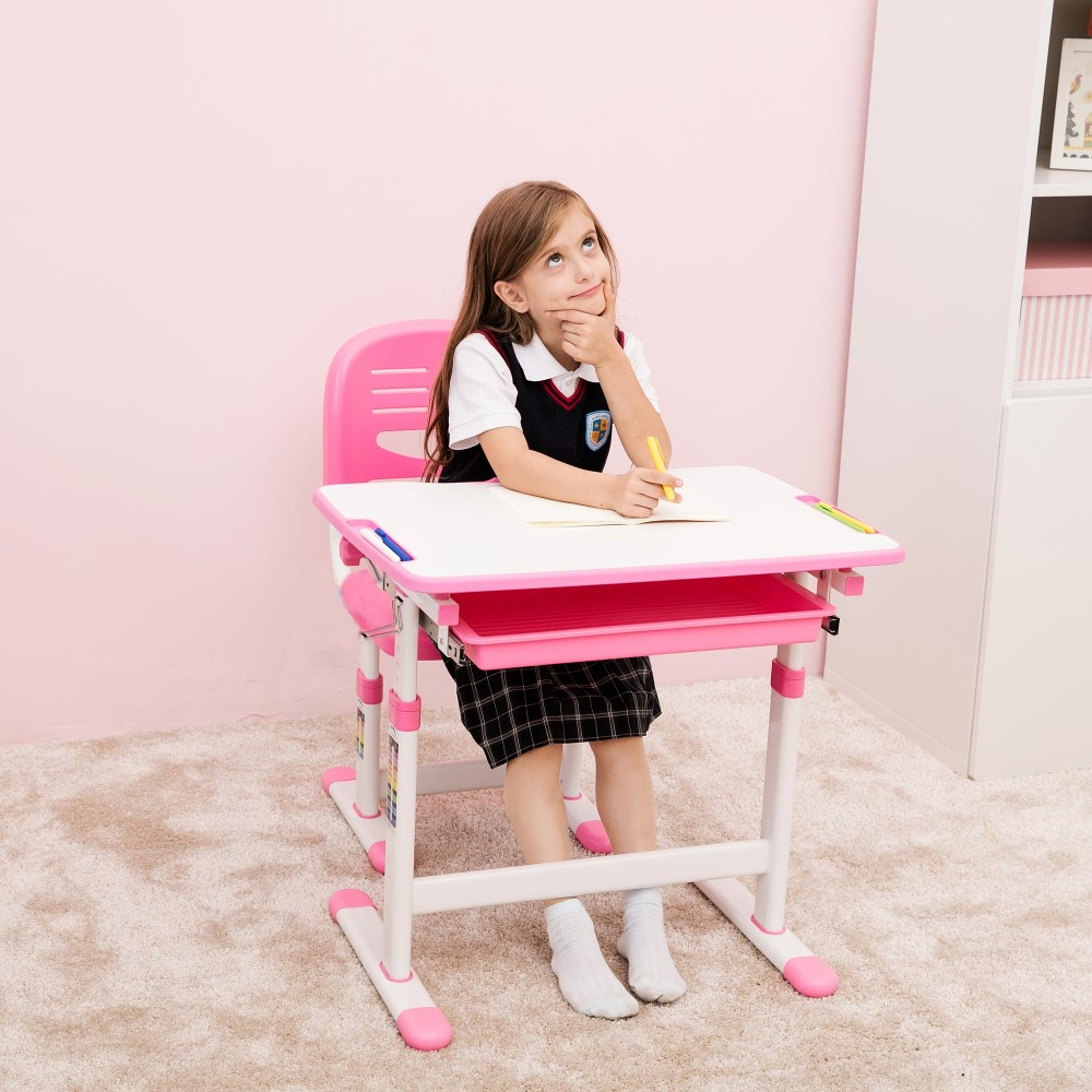 Toddler Desk And Chair Uk: Mini Pink Desk For Girls