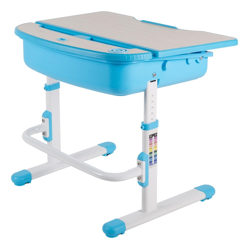 Chacha blue desk for Best desk chair for kids
