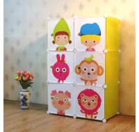 Buddies - Kids Storage Boxes and Wardrobe - 6 Cubes
